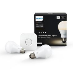 PHILIPS Hue White A19 Starter Kit (Compatible with Amazon Alexa, Apple Home Kit and Google Assistant), Specialty Light Bulbs - Amazon Canada