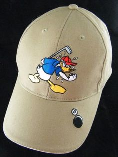 Rare-Disney-World-Donald-Duck-Go-Home-Ball-Adjustable-Golf-Baseball-Hat-Cap