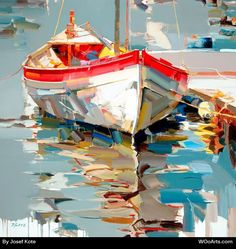 Photo To Oil Painting Canvas Key: 3445657521 Photo To Oil Painting, Acrylic Portrait Painting, Boat Painting, Seascape Paintings, Nature Paintings, Pinterest Pinturas, Art Pictures, Watercolor Art, Canvas Art