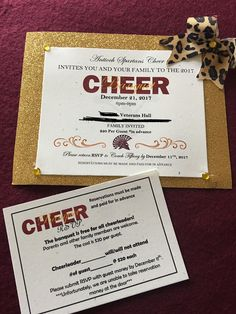 Cheerleading banquet invitation ideas cheer banquet invite but cheer banquet invitation stopboris Image collections