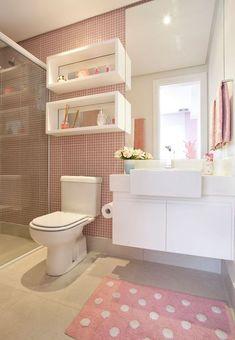 Kid Bathroom Decor, Teen Room Decor, Small Bathroom, Bedroom Decor, Restroom Design, Bathroom Interior Design, Jugendschlafzimmer Designs, Teen Bathrooms, Toilette Design