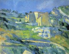 Image detail for -Houses at the L'Estaque - Paul Cezanne