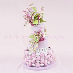 Mariposa Lily Cake  by Bobbie - http://cakesdecor.com/cakes/266831-mariposa-lily-cake