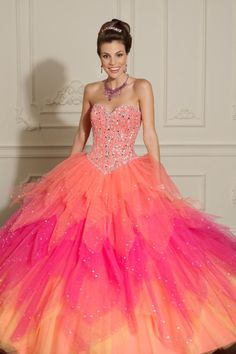 New Arrival Sweetheart Beaded Bodice Floor Length Quinceanera Dress Multi Color