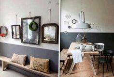 Mooi die lambrisering Home Living Room, Decorating Your Home, Beautiful Homes, Sweet Home, Gallery Wall, New Homes, Lounge, Wall Decor, Interior