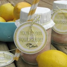 Lemonade Gift Tag and Recipe--Here is a fun and easy gift idea, a lemonade gift tag and recipe.  The back tag has a basic recipe for the lemonade as well as one to make a lemonade slushie.