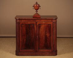 Small Mahogany Chiffonier Side Cabinet c.1860. - Decorative Collective