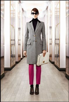 Pre-Fall Fashion 2012   Love the punch of colour with the pink...and the jacket!