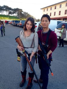 The walking dead Glenn and Maggie Cosplay