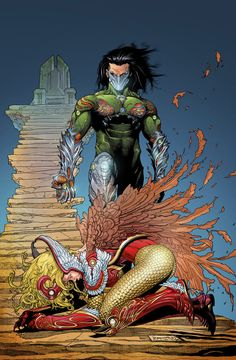 Awesome pencils by Michael Broussard Awesome inks by Awesome flats by Colors by me For practice only. Darkness 100 Cover By Broussard / Ubermorte Top Cow, Image Comics, Drawing Reference, Darkness, Comic Art, Marvel Comics, The 100, Witch, Deviantart