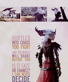Hurtled into chaos you fight and the world will shake before you. Is it fate or chance? I can never decide. #flemeth #dragonage