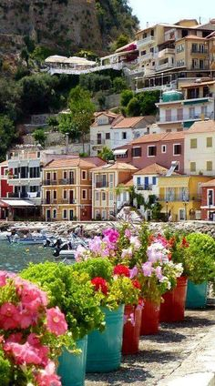 Parga a town lies on the Ionian coast between the cities of Preveza and Igoumenitsa, known for its scenic beauty, Greece Travel Sights, Places To Travel, Places To Go, New Travel, Paris Travel, Project Life Travel, Wonderful Places, Beautiful Places, Greek Beauty