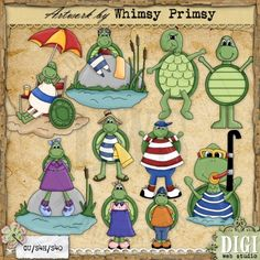A Turtle's Life 1 - Whimsy Primsy Clip Art Download