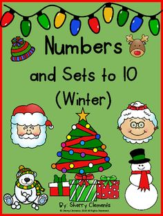 Numbers and Sets to 10 (Winter) from Dr. Clements' Kindergarten on TeachersNotebook.com -  (24 pages)  - Numbers and Sets to 10 (Winter)