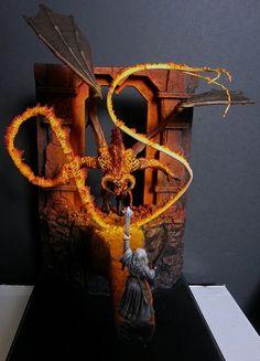 Lord of the Rings Diorama | Moria Balrog vs Gandalf duel | #lotr #hobbit…