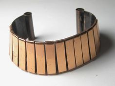 Vintage ESTATE FIND Genuine Double Layered Copper Cuff Bracelet -1960-70's #PlasticCraftNov