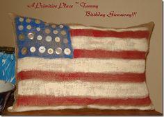 Primitive Patriotic Pillow, Patriotic & 4th of July Crafts