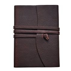 LEATHER JOURNAL A Beautiful Handmade Writing Journal. This Vintage Style Leather Bound Notebook has Lined Paper. The Best Gift for Men and Women. 8.25 x 6 inches.  BEAUTIFUL LEATHER BOUND JOURNAL - Exceptional Dark Brown Leather Personal Journal made of Genuine 100% Crazy-Horse cowhide leather. Its vintage appearance, soft feel, and classic leather smell make it the Preferred Choice in classic writing journals. It is the perfect journal to preserve memories, keep track of ideas, and re...