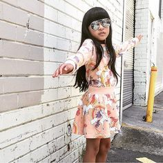 Styling it out for the weekend cool young lady @lalalingy in her  #minirodini outfit #jrstylekids