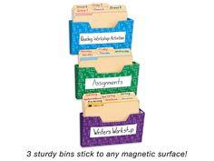 Magnetic Folder Bins - Set of 3