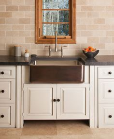 Copper Stainless Farmhouse Sink by Stone Forest