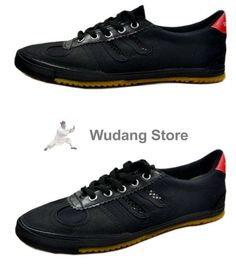 buy popular 8e815 942fe Double Star Canvas Kung Fu Shoes Black