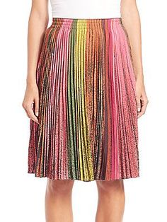 Akris Silk Crepe Wind Turbine Plissé Skirt - Color - Size