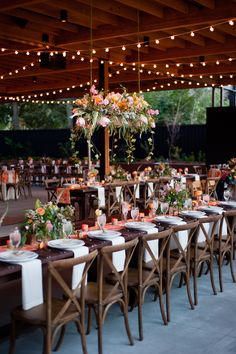 Hanging Flower Box - corals - long tables