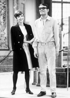 Audrey Hepburn and Peter O'Toole being completely adorable on the set of How to Steal a Million.