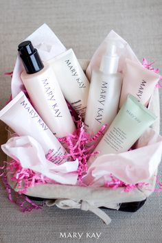 Looking for the perfect gift for Mother's Day? Here's an easy option that is certain to make her feel special. Start by gathering a few products great for pampering. Next, find a fun basket and fill it with confetti. Lastly, arrange the products inside the basket and deliver with a smile and a hug. | Mary Kay