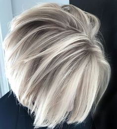 If you really want to lighten up your looks with fresh hair colors then we are here to provide you some of the best ice blonde balayage hair colors and highlights in these days. This color is suitable for both short and long blonde hair lengths. Medium Short Hair, Short Hair Cuts For Women, Medium Hair Styles, Curly Hair Styles, Short Gray Hair, Haircuts For Women, Black Hair, Hair Cuts For Over 50, Short Bob Styles
