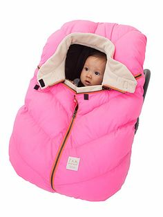 Car Seat Cocoon ($59), which features a cozy micro-fleece lining and elasticized base that slips over your seat in seconds. 7 A.M. Enfant.