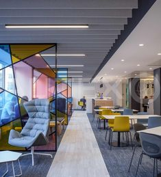Autex Interior Acoustics – Frontier™ Design: Tundra – Colour: Flatiron – BDO Offices, London, UK – Direct Fix to Ceiling in cladding with integrated lighting Informations About Luxury Office Design Ideas For a Remarkable Interior
