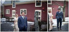 Scott & Erin- Gedney Farm Winter Wedding, first look, winter wedding, hunter boots