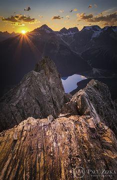Sunset over Emerald Lake - Yoho National Park, Alberta, Canada