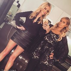 Sisters: Paris Hilton, 34, flew into town to spin the discs for the event hosted by Chanel...