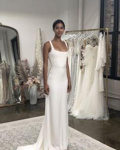 Square Neckline Informal Summer Wedding Dress sold by Sancta Sophia. Bridal Dresses, Wedding Gowns, Bridesmaid Dresses, Summer Wedding, Dream Wedding, Simple Dresses, Dream Dress, Bridal Style, Marie