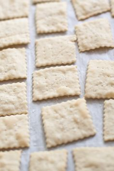 Saltines From Scratch Make your own Saltine Crackers from scratch at home! Homemade Crackers, Saltine Crackers, Spinach And Feta, Recipe From Scratch, Instant Yeast, Sweet And Spicy, Healthy Snacks, Tasty, Breads