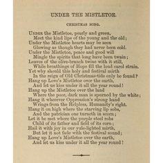 Poetical Works 1870 Under the Mistletoe Canvas Art - Eliza Cook (18 x 24)
