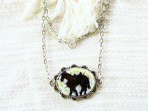 Horse/ Wild West / collana con mosaico