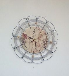 Grasses clock wired ... 1 by HaCu on Etsy