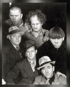 I don't trust people that don't love The Three Stooges. <--- This is the most beautiful thing I've seen all year. Star Hollywood, Golden Age Of Hollywood, Vintage Hollywood, Classic Hollywood, Hollywood Icons, Hollywood Celebrities, The Comedian, The Stooges, The Three Stooges