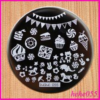 Free Shipping   8pcs/lot  hehe055 Children's Day  Nail Art Stamping Set  hehe001-060