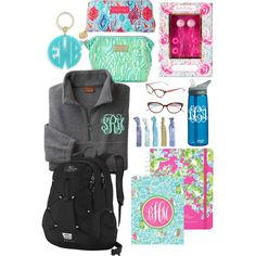 Back to school Lilly Pulitzer essentials! by gewasulko on Polyvore featuring polyvore, fashion, style, Lilly Pulitzer, The North Face, Moon and Lola and CamelBak
