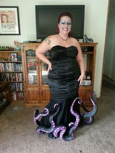 Ursula the Sea Witch costume - I made the tentacles from dollar store pool…