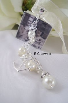 AnchorPearl and Crystal ADD ON for your Custom by ElegantChicJewel