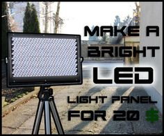 - What is up everybody, In this tutorial I am going to show you how to make a super bright LED light panel which is great for video lighting due to its natural white...