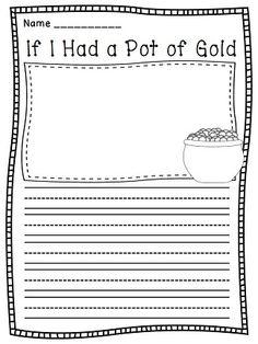 If I Had a Pot of Gold fun March writing