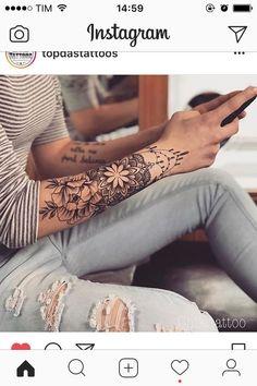 16 Crazy Hand Tattoo Ideas tatoo feminina, tatoo feminina delicada, tatoo feminina braco, t Girly Tattoos, Trendy Tattoos, Forearm Tattoos, Body Art Tattoos, Tribal Tattoos, Sleeve Tattoos, Mandala Tattoo Sleeve, Floral Mandala Tattoo, Forarm Tattoos For Women
