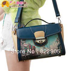 XiaoXiang Bag Brand vintage preppy style color block women's fashion handbag famous shoulder messenger bag Korean style